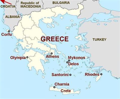 athens islands map greek islands  athens map greece