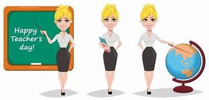 Teacher Cartoon Vector Female Woman Blonde Books