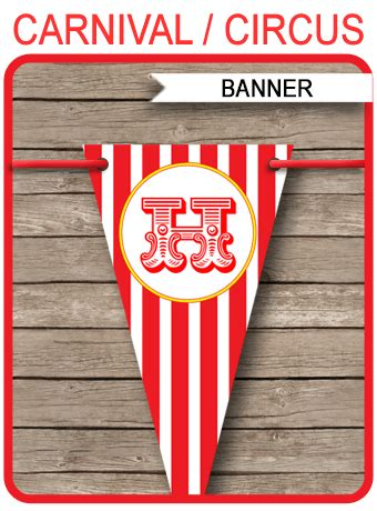 carnival party banner template circus banner editable