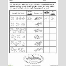 Coin Challenge What's The Change?  Money Worksheets, Worksheets And Coins