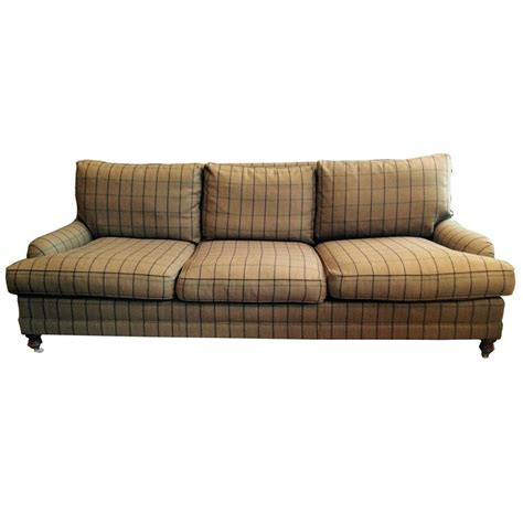 plaid sofas for sale traditional camel plaid wool ralph lauren sofa at 1stdibs