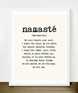 namaste quote typography art print by merci merci modern With kitchen cabinets lowes with she believed she could so she did wall art