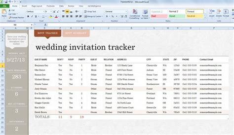 wedding invite list template  excel  powerpoint