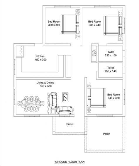 Free Home Plan beautiful low cost 3 bedroom home plan in 1309 sqft free