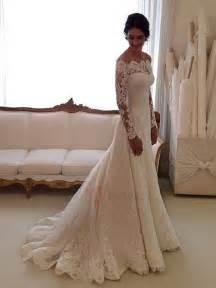 vintage inspired wedding dresses vintage a linie brautkleid mit spitze ärmel tidebuy de