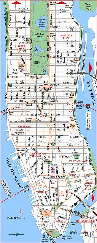 New York Manhattan Karte