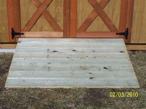 build shed ramp uneven ground ksheda