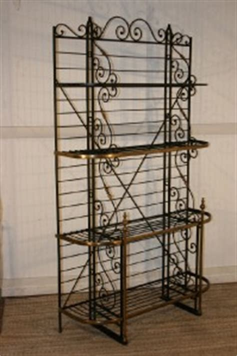 wrought iron etagere 85 quot h vintage forged wrought iron and brass bakers
