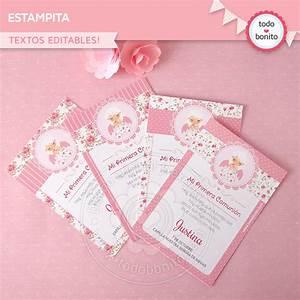 Kit imprimible shabby chic en rosa
