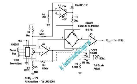 Pressure Transducer Circuit Diagram by Programmable Pressure Transducer Circuit Diagram Circuit
