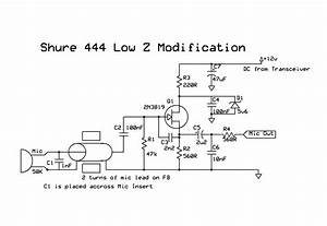 Shure 444 Microphone Wiring Diagram