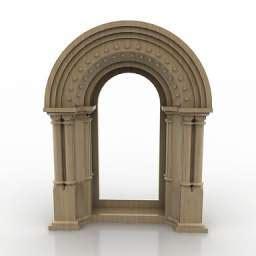 industrial kitchen furniture 3d molding plaster decoration arch n110309 3d model