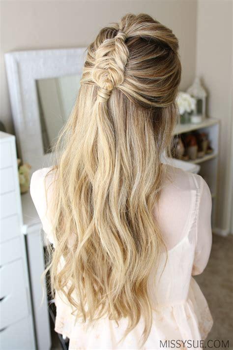 half up mini dutch fishtail braid hair tutorials