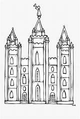 Coloring Church Clip Lds Temple Clipartkey sketch template