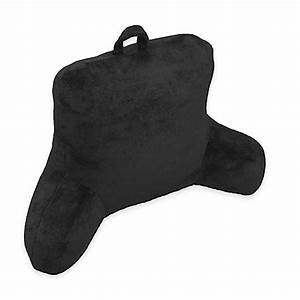buy micro mink backrest pillow in black from bed bath beyond With black backrest pillow