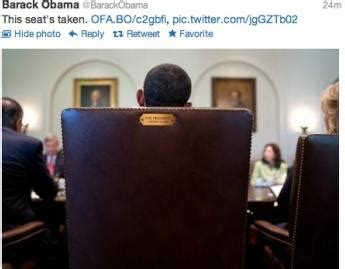 Obama Empty Chair Tweet by Obama To Eastwood This Chair Is Taken Eurweb