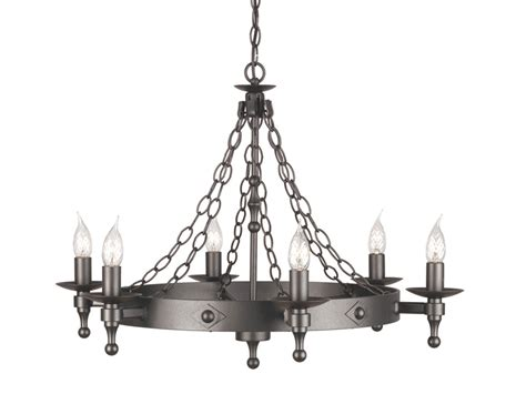 Black Wrought Iron And Chandelier by Chain Link Graphite Black Wrought Iron Chandelier