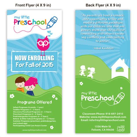 Day Poster Template by 30 Daycare Flyer Templates Sle Templates