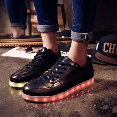 light up shoes adults 2015 black led luminous shoes light up shoes for
