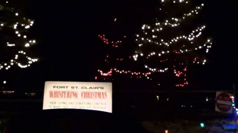 fort st clair christmas lights whispering christmas eaton ohio 2012 youtube