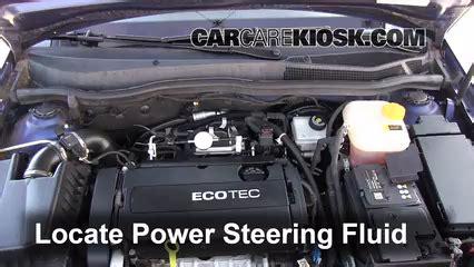 follow  steps  add power steering fluid   saturn