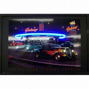 Galaxy Diner Neon LED Poster Stargate Cinema