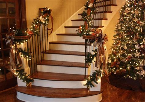 stair garland is a must