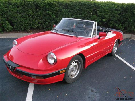 The Graduate Alfa Romeo by 1988 Alfa Romeo Spider Graduate Convertible 2 Door 2 0l