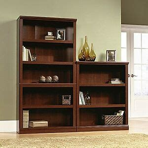 Sauder Bookcase Cherry by Sauder 412808 3 Shelf Bookcase Select Cherry Finish New Ebay