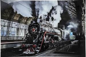 Tableau En Verre : tableau en verre steam train 100x150cm tableau abstrait ~ Melissatoandfro.com Idées de Décoration