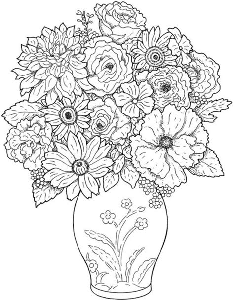 Rose Coloring Pages Hard