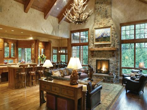 rustic open floor plans  ranch style homes open floor