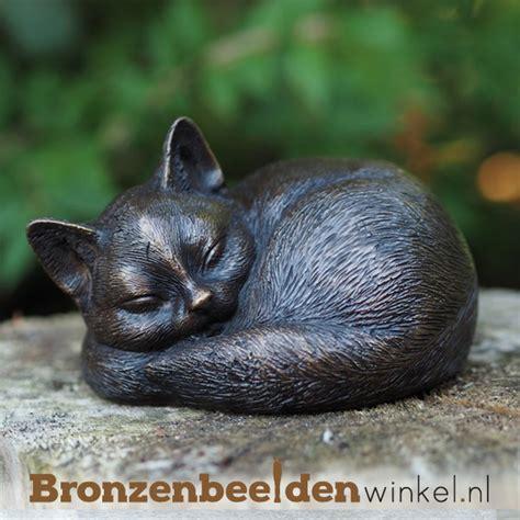 beeld kat tuin ᐅ bronzen katten beelden kopen kat van brons voor huis
