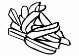 French Coloring Fries Pages sketch template