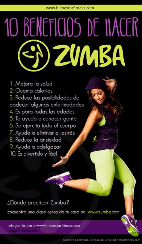 zumba fitness beneficios club instructor infographics vaughan benefits oficial application infografia health bailando workout log diet exercise