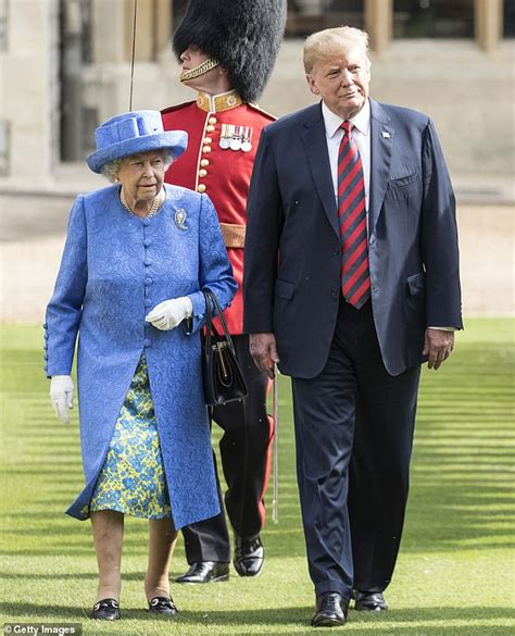trump donald visit palace queen buckingham president state during meet archie royal trumps revealed she itinerary lunch today brooch did