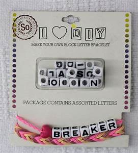 105 best sew crafty images on pinterest blue yellow With make your own bracelet with letters