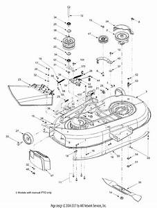 Mtd 13al608g731  2004  Parts Diagram For Deck Assembly 42 Inch