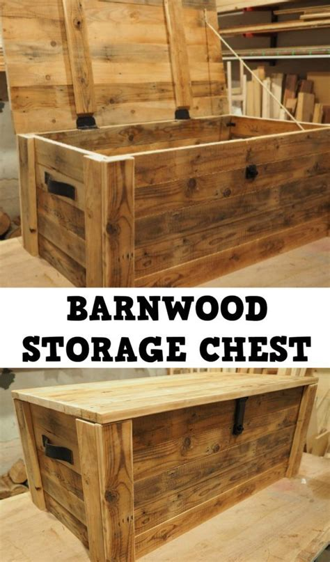 Garage Storage Montreal by Build A Storage Chest From Reclaimed Wood Diy Montreal