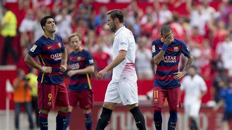 sevilla fc   fc barcelona la liga match review barca