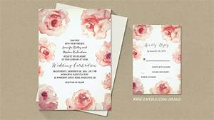 read more watercolor roses vintage wedding invitation With wedding invitation designs old rose