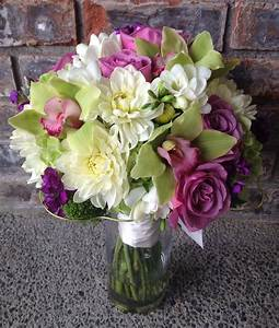 An Apple Green, Purple & White Bouquet | Jen's Blossoms Blog