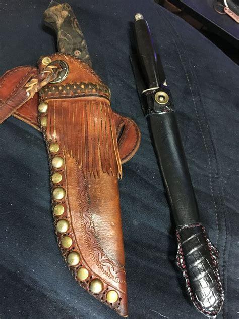 pin  robert watson  leather knife sheaths leather