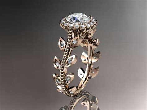 14kt rose gold diamond leaf and vine wedding ring engagement ring this shop has some of the most