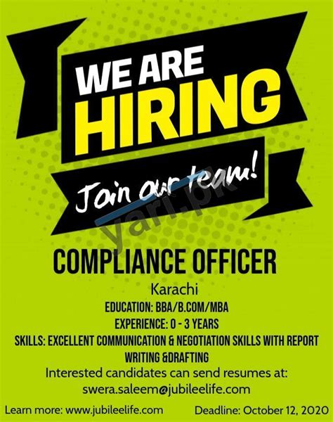 Teamwork, integrity, excellence and passion. Jubilee Life Insurance Jobs | Compliance Officer Required | 2020