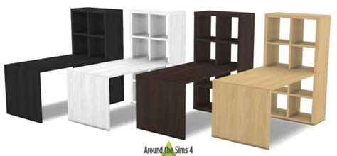 ikea expedit bureau ikea like expedit kallax furniture at around the sims 4