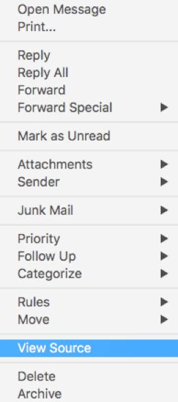 Office 365 Mail Headers by Viewing Headers On Incoming Mail In Office 365 Outlook For