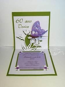 Faire Part Anniversaire 60 Ans : cartes invitation anniversaire 60 ans tina crea ~ Melissatoandfro.com Idées de Décoration