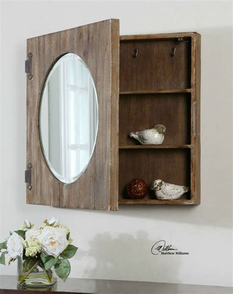 Rustic Bathroom Cabinet by Large 24 Quot Aged Wood Mirror Bathroom Medicine Cabinet