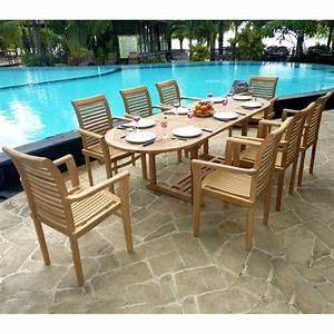 Salon Jardin Teck : ensemble en teck brut en promotion 8 fauteuils meubles de ~ Melissatoandfro.com Idées de Décoration